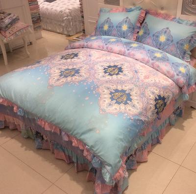 欧式床上四件套床单被套四件套全棉纯棉公主风简约大气1.5/1.8/2m哪款好