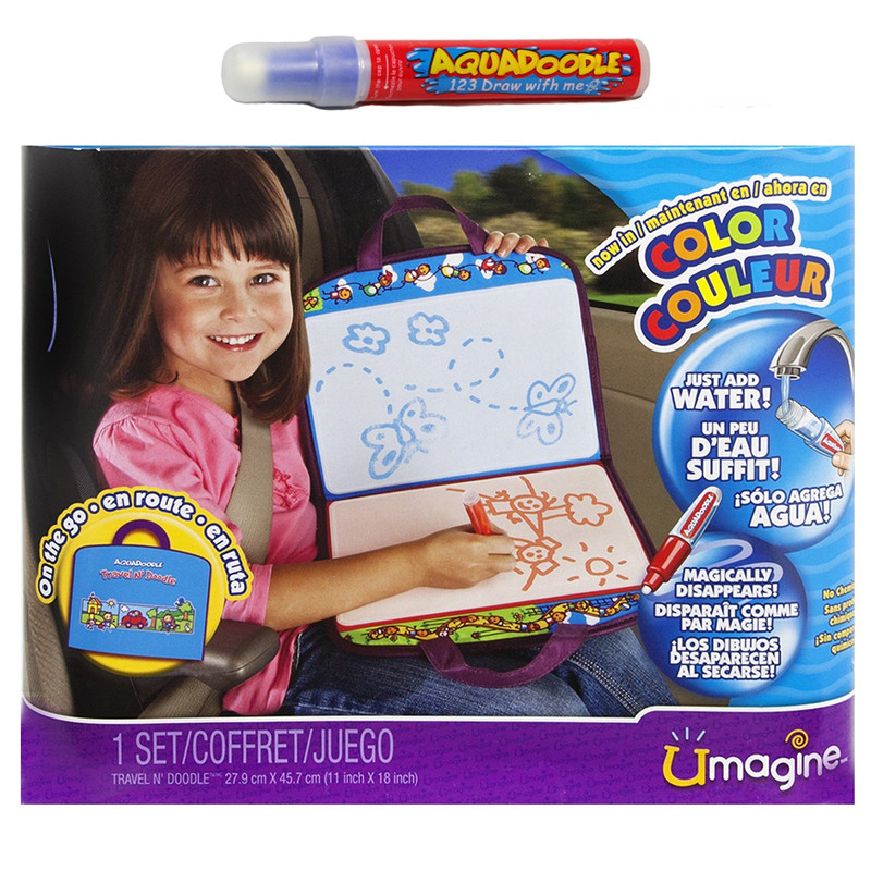 美国直邮代购AQUADOODLE清水魔法画布儿童早教画板涂鸦垫