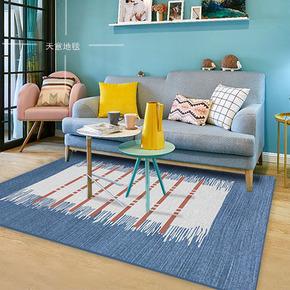 新中式现代简约几何北欧客厅地毯卧室茶几床边长方形地毯垫可机洗