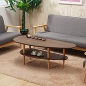 北欧简约茶几客厅小户型 创意椭圆形小茶几简易方形组合木质桌子
