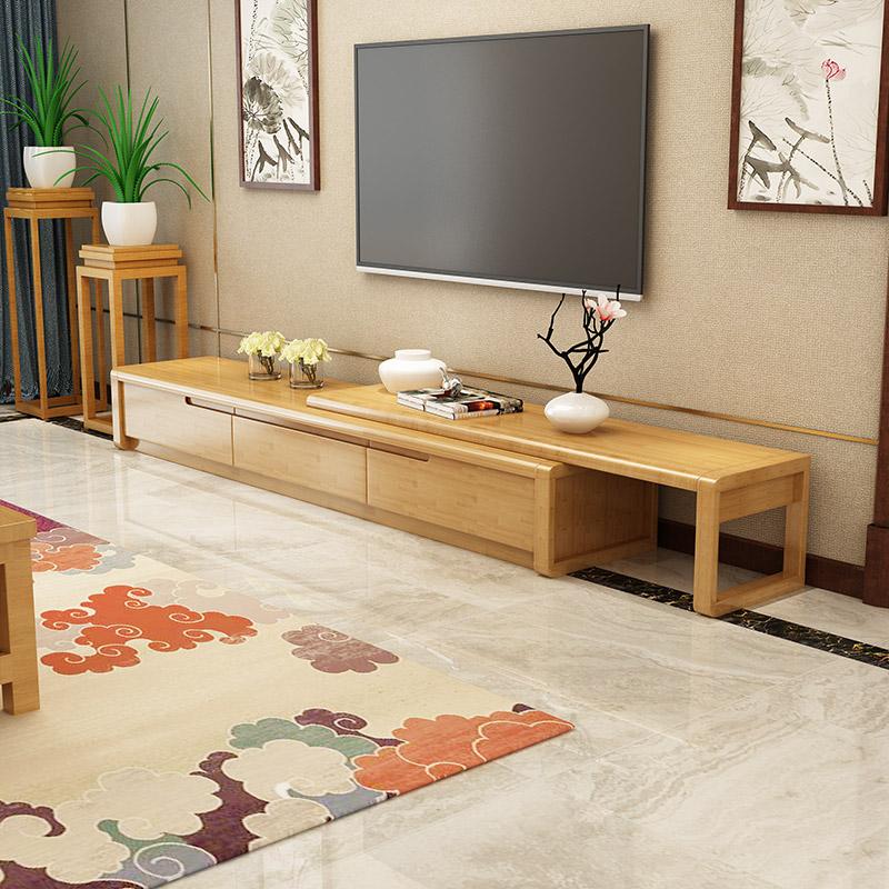 北欧实木电视柜伸缩卧室茶几地柜组合套装小户型现代简约客厅家具