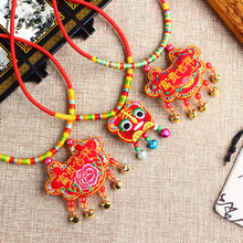 Dragon Boat Festival colorful rope necklace for children