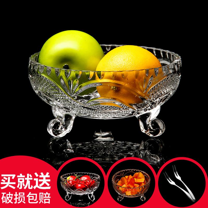 果盘玻璃水晶欧式