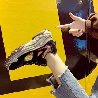小熊鞋老爹鞋女鞋2019新款春季ulzzang原宿运动学生靴帆布鞋女