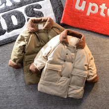 Youbu children's fashionable double-breasted cotton jacket