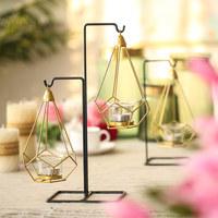 烛台摆件烛光晚餐道具灯北欧铁艺蜡烛台家居装饰品创意个性浪漫