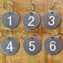 幼儿园水杯标记号码牌定制 吊牌不锈钢编号数字牌 金属牌刻字打标
