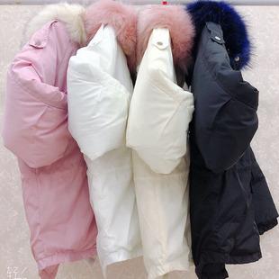 棉衣女冬季韩版chic宽松短款大毛领棉服学生加厚面包服df外套女