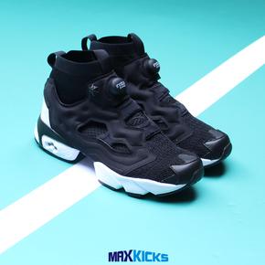 [MK] REEBOK/锐步 Insta Pump Fury 充气黑白袜套针织跑鞋 CN4569
