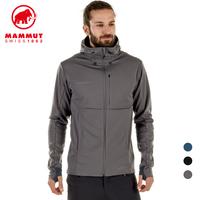 MAMMUT猛犸象男户外轻量防风透气经典软壳夹克外套