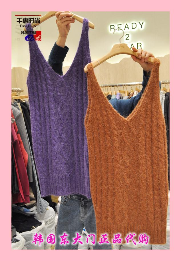 韩国正品代购新款女装READY 2 WEAR-H 女无袖针织衫左/右色均码