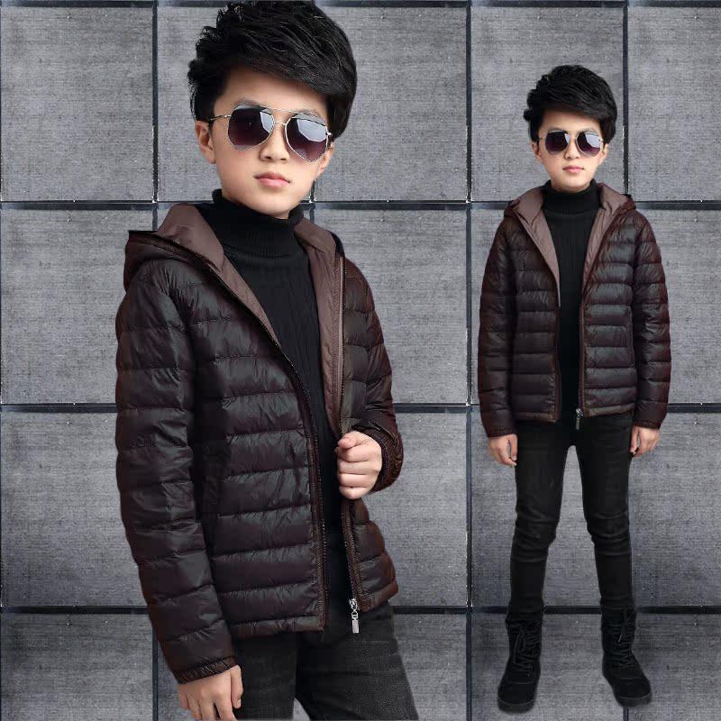 儿童冬装男羽绒