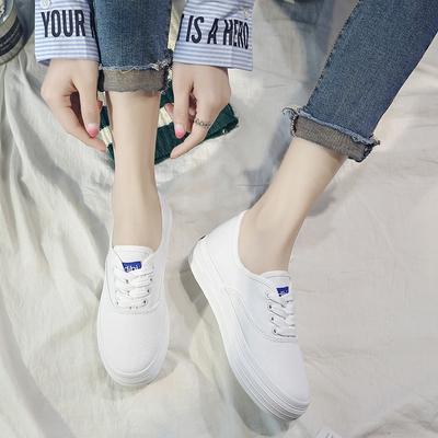 夏季小白鞋女百搭2018春季新款韩版郑秀晶同款布鞋厚底ins帆布鞋
