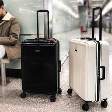 High-end luggage case for export to Australia, deep aluminium alloy frame universal pulley suitcase, customs lock portable suitcase