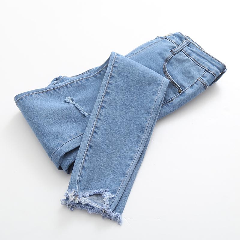 韩版修身牛仔裤女