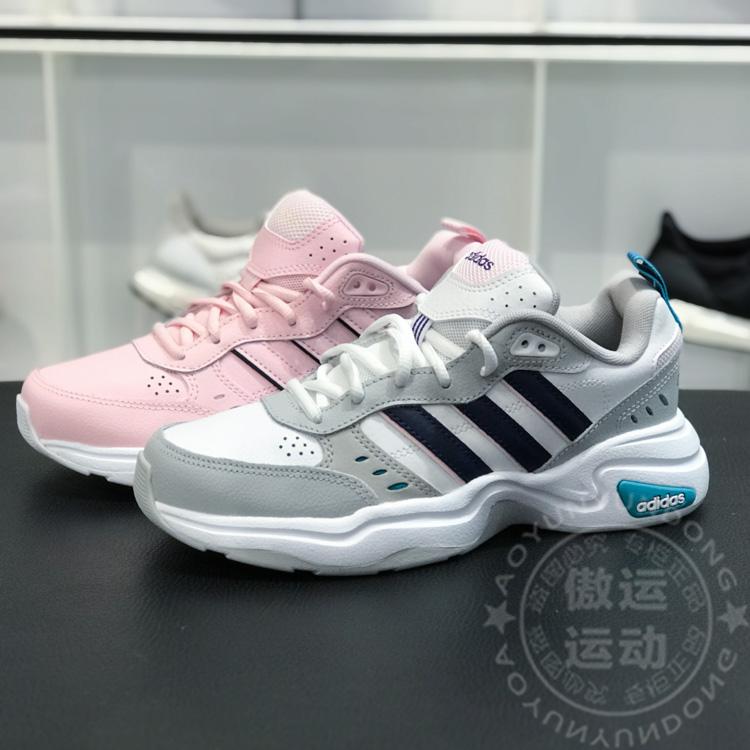阿迪达斯女鞋2019秋新款复古运动耐磨老爹鞋跑步鞋 EG2689 EG6225