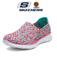 底松紧编织鞋 面一脚蹬简便套鞋 超轻舒适健步鞋 斯凯奇12028女鞋