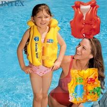 多省包邮 正品INTEX婴幼儿童救生衣宝宝游泳衣充气背心三气囊安全
