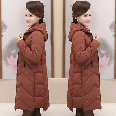 妈妈棉衣冬装外套中老年女装羽绒棉服女40岁50中年棉袄大码中长款