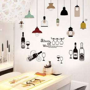 创意宿舍贴纸墙贴温馨餐厅墙面装饰客厅卧室房间自粘墙纸壁纸贴画