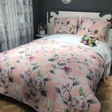韩式全棉斜纹水洗密道绗缝夏季床盖床单床垫夏凉被床上用品三件套