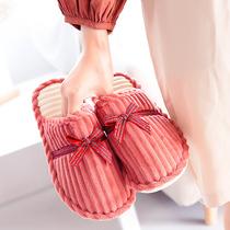 2018冬季棉拖鞋男女厚底情侣韩版居家居室内防滑保暖冬天可爱月子