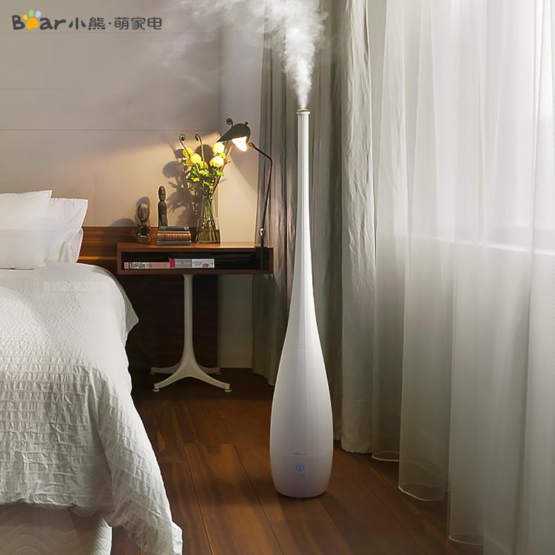 小熊落地式加湿器家用静音卧室孕妇婴儿空气大容量电器官方旗舰店