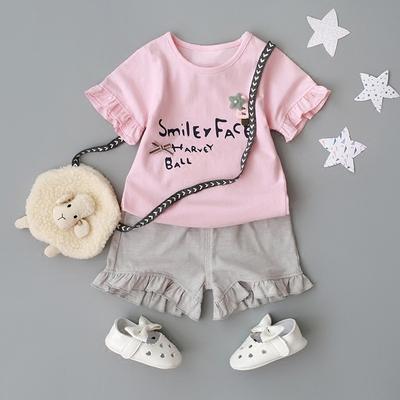 童装2018新款女宝宝夏装套装0-1-2-3-4岁女童夏天婴儿夏季衣服潮