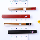 Creative Japanese cherry blossoms and wind-friendly chopsticks box tableware set travel portable chopsticks set