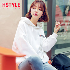 Handu clothing house 2019 Korean version of women's spring new ins loose hooded hooded tide jacket sweater GY9745 筱