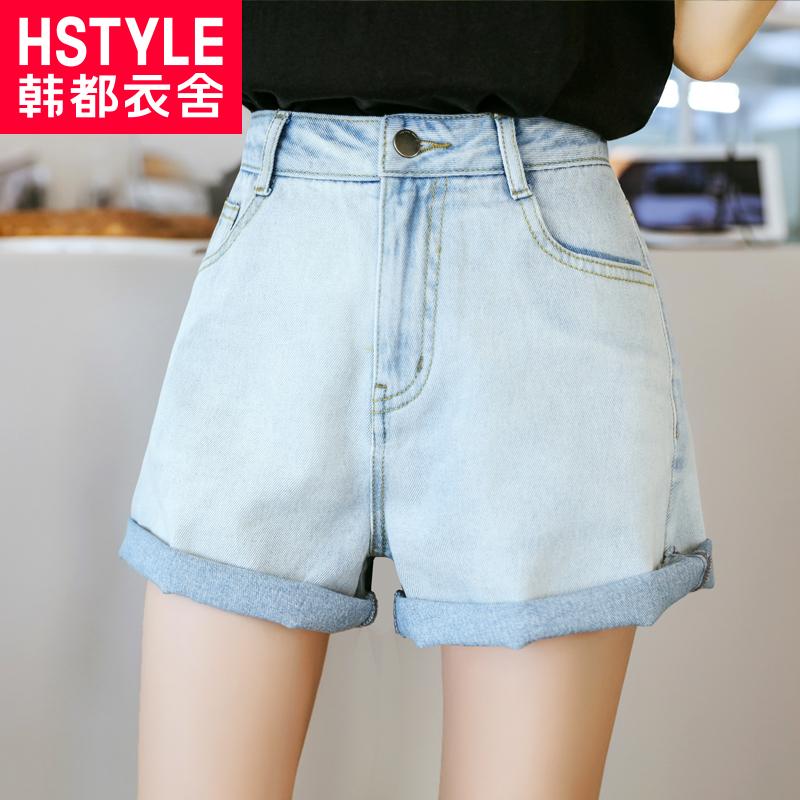 夏款高腰短裤