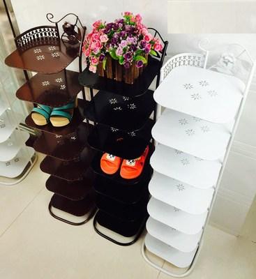 定做迷你童鞋组合式多功能小高带卧室储物柜现代铁艺鞋架十层