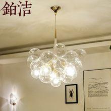 北欧灯具餐厅吊灯现代简约客厅灯楼梯灯创意个性泡泡球卧室饭厅灯