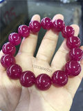 Burmese jade ice seed old pit rose red jade bracelet genuine fidelity natural jade jade red jade bracelet