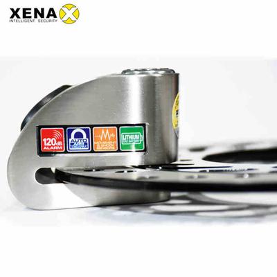 英国XENA摩托车锁智能报警锁大音量高灵敏度碟刹锁抗液压剪防盗锁最新报价