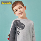 Balabala baby sweater children's sweater boys autumn cotton linet casual top tide