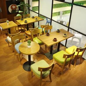 甜品店奶茶店桌椅咖啡厅椅 冷饮店主题餐厅桌椅 西餐厅饮品店桌椅