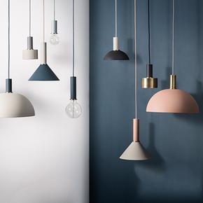 北欧简约吧台吊灯餐厅卧室床头现代艺术创意灯饰丹麦单头铁艺灯具