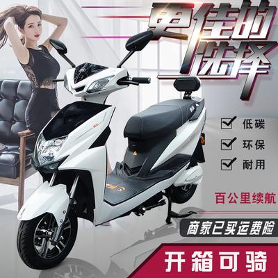 尚领电动车新款60V72V大踏板男女成人代步电动摩托豪华助力电瓶车
