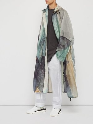 小胖正品 Y-3  Technical logo-print poncho jacket Y3风衣 DY72