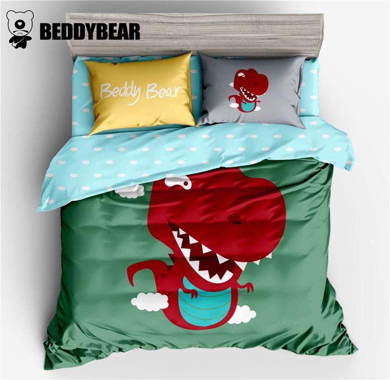 杯具熊纯棉卡通四件套可爱创意全棉儿童床单被套枕套宝宝床上用品