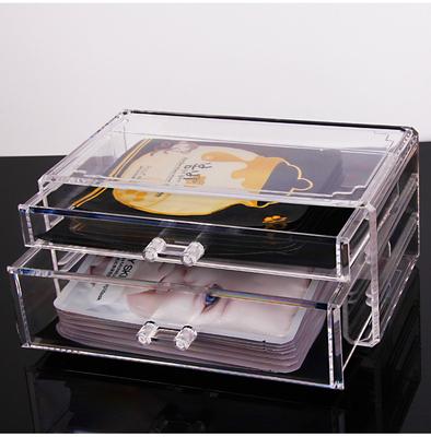 面膜盒子收納盒 透明收納抽屜桌面化妝品梳妝臺置物架創意亞克力最新報價