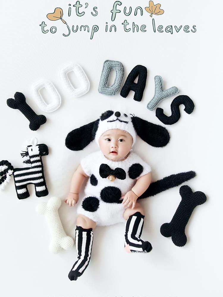 百天宝宝摄影服装儿童摄影道具新款婴儿搞怪服装创意可爱个性拍照