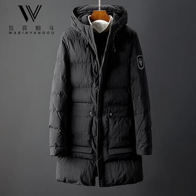 2018冬季男款加厚中长款棉衣连帽外套青年小伙保暖潮流修身棉袄子