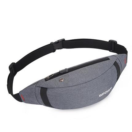腰包男帆布大容量多功能实用耐磨防水手机包运动跑步女个性时尚潮