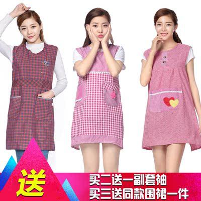 韩版卡通中老年围裙坎肩夏季薄时尚厨房防污护衣罩衣工作服包邮