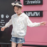 Children's wear children's sun protection clothing girls sun protection clothing 2019 new Korean version of the big boy summer foreign light thin coat
