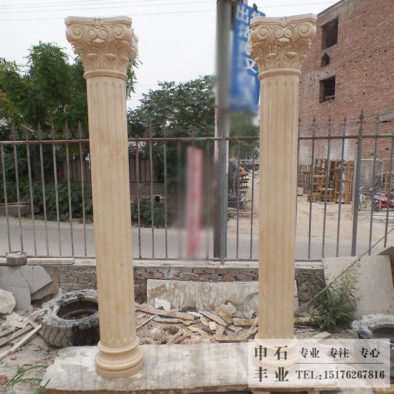 客厅欧式罗马柱