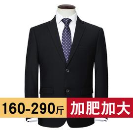 大码西装男士套装加肥加大胖子商务西服外套结婚礼服职业夏季薄款图片