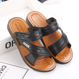 2019 summer new men's sandals breathable casual sandals Vietnam beach shoes non-slip dual-use large size slippers